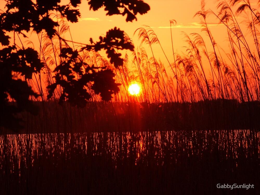 Sunset at the lake by GabbySunlight