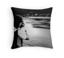 lady photographer Throw Pillow