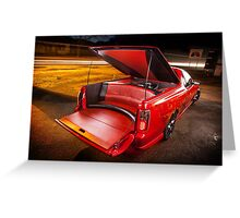 Kim Smith's VY Holden Commodore Ute 'Wildfire' Greeting Card
