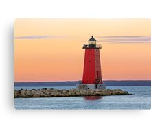 Morning at Manistique Lighthouse Canvas Print