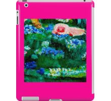 Little Lamb Sleeping in the Garden Pink by Marie-Jose Pappas iPad Case/Skin
