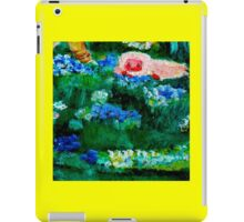 Little Lamb Sleeping in the Garden Yellow by Marie-Jose Pappas iPad Case/Skin