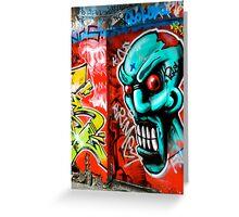 Grafitti in Melbourne, Australia Greeting Card