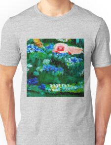 Little Lamb Sleeping in the Garden Red by Marie-Jose Pappas Unisex T-Shirt