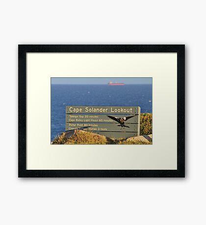 Cape Solander Framed Print