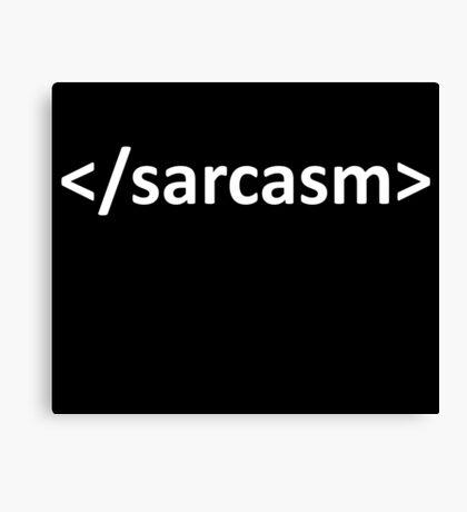 Forward Slash Sarcasm Code Canvas Print