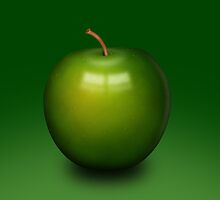 Abstract green apple by AnnArtshock