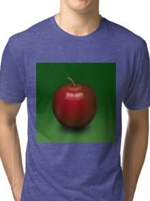 Abstract red apple Tri-blend T-Shirt