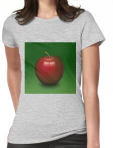 Abstract red apple Womens Fitted T-Shirt
