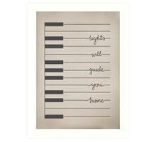 Fix You lyrics Art Print
