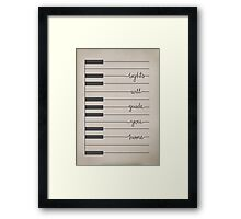 Fix You lyrics Framed Print