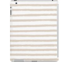 French Tan / Taupe Painted Stripe Pattern iPad Case/Skin