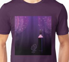 Abstract wine bottle and glass Unisex T-Shirt