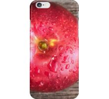 Apple with water drops on table 2 iPhone Case/Skin