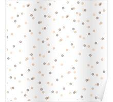 Chic Pastel Dot & Spot Pattern Poster