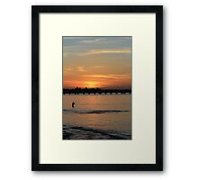 Sunest Fishing at Kurnell Framed Print