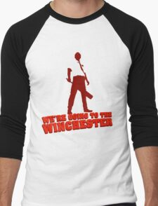 We're Going To The Winchester (Color Print) Men's Baseball ¾ T-Shirt