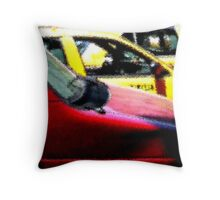 red/yellow Throw Pillow