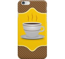 Card with coffee cup iPhone Case/Skin