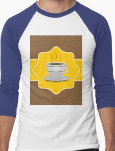 Card with coffee cup Men's Baseball ¾ T-Shirt