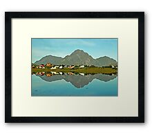 Lake Reinevatnet - Lofoten - Norway Framed Print