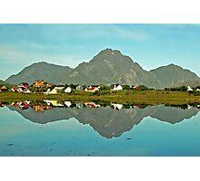 Lake Reinevatnet - Lofoten - Norway Photographic Print