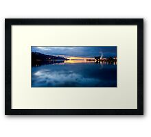 Sunset @ Launceston Framed Print