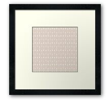 Taupe and White Cultural Arrow Pattern Framed Print