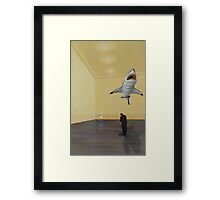 White Shark II (Shadow) Framed Print