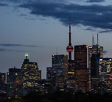 Toronto Skyline at Dusk by Georgia Mizuleva