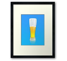 Glass of beer 3 Framed Print
