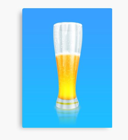 Glass of beer 3 Canvas Print