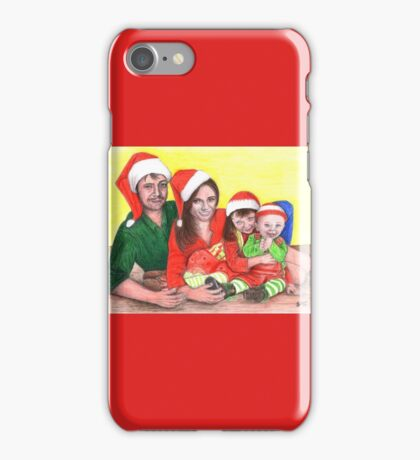 Caskett family at Christmas iPhone Case/Skin