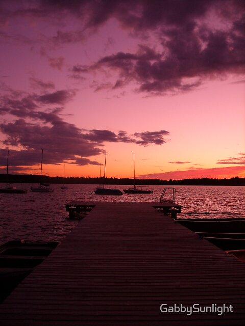 Way to sunset by GabbySunlight