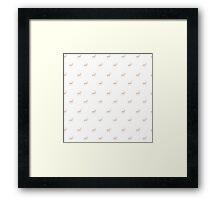 Taupe Stag Deer Animal Pattern Framed Print