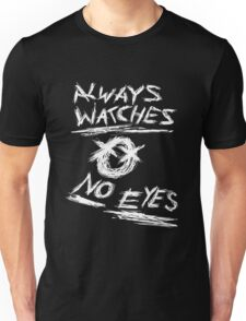 Slenderman Pages - Always Watches No Eyes (White Version) Unisex T-Shirt