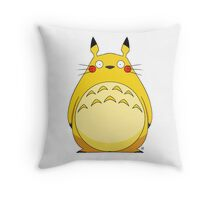 Totoro Pikachu Throw Pillow