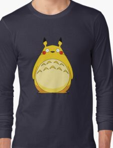 Totoro Pikachu Long Sleeve T-Shirt