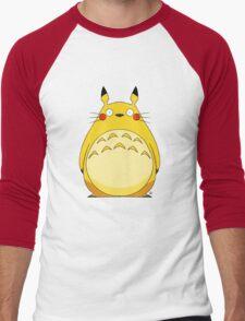 Totoro Pikachu Men's Baseball ¾ T-Shirt