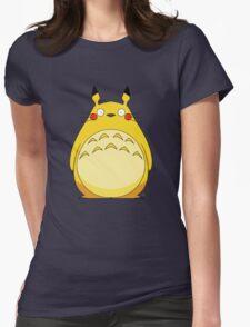 Totoro Pikachu Womens Fitted T-Shirt