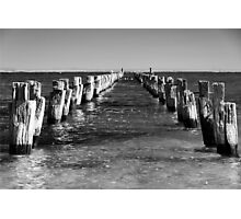 Pier today, gone tomorrow Photographic Print