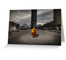 A Monk in Montparnasse Greeting Card