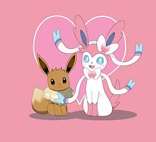 Eevee & Sylveon by Winick-lim