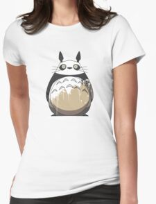 Totoro Painting Panda Womens Fitted T-Shirt