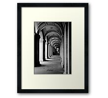 Colonnade at the GPO Framed Print
