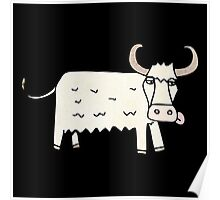 hairy cow Poster