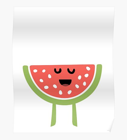 CHEERING HAPPY WATERMELON Poster