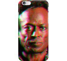 Miles Davis in a funky circuar shape iPhone Case/Skin