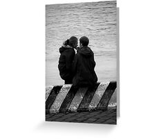 Unknown pair BW Greeting Card