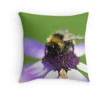 Tea Time for Mr Bee Throw Pillow
